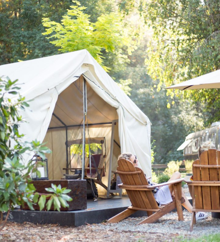 Luxury Tent at AutoCamp Russian River