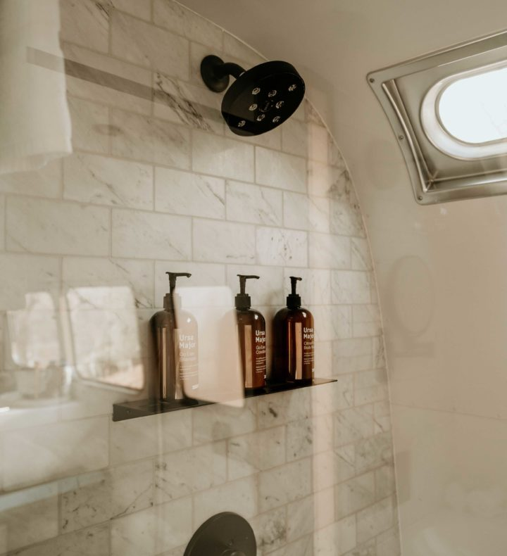Walk in Shower in AutoCamp Airstreams