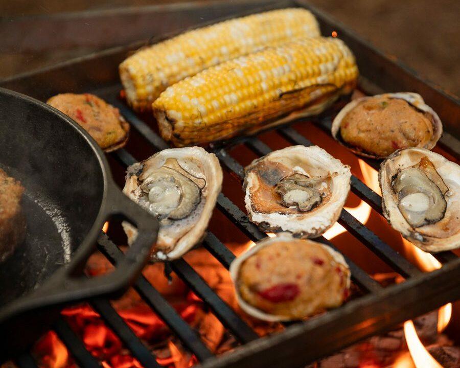 Food-on-cast-iron-skillet