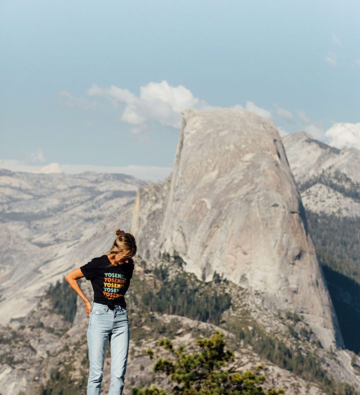 Girl-in-front-of-yosemite-mountain