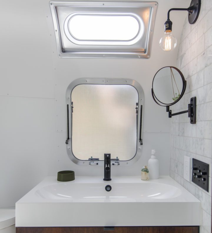 AutoCamp Airstream Bathroom Vanity
