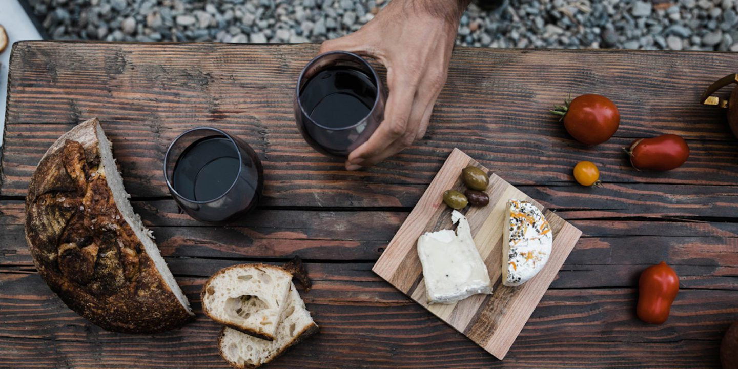Table-of-cheese-bread-and-wine